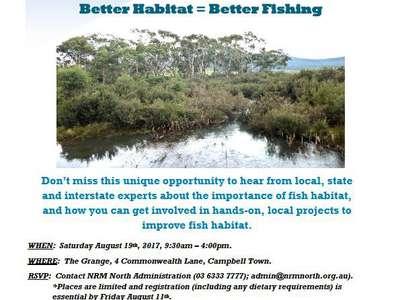 Anglers – get involved in improving fish habitat.