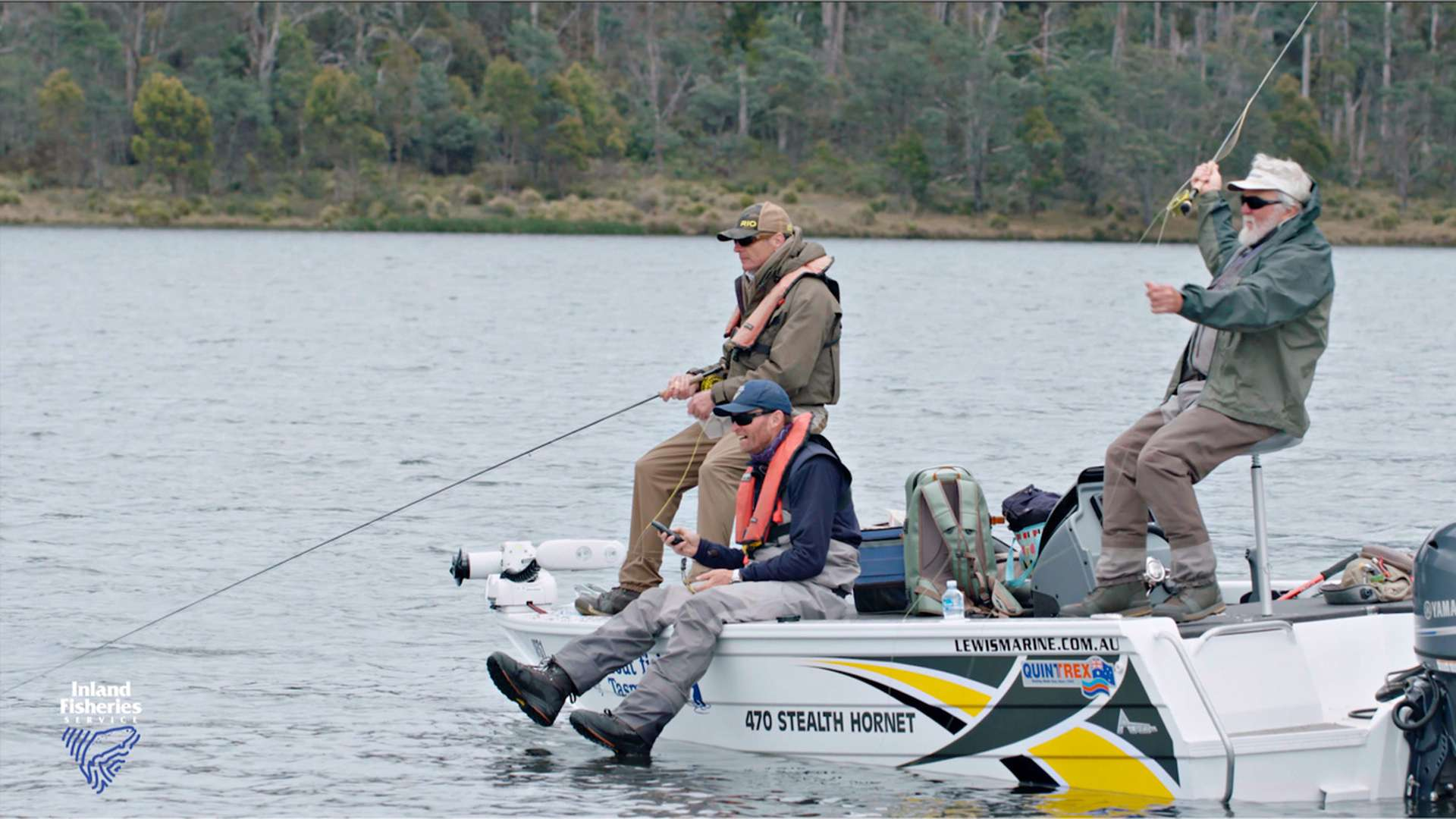 Fly Fishing on Woods Lake and Fours Springs Lake Tasmania